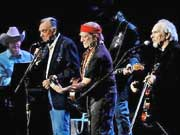 Ray Price, Willie Nelson, and Merle Haggard. Floyd Domino & Ray Benson in background, Last of the Breed Tour 2007