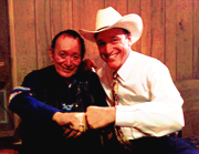 Accordion legend Flaco Jimenez of the Texas Tornados and Floyd
